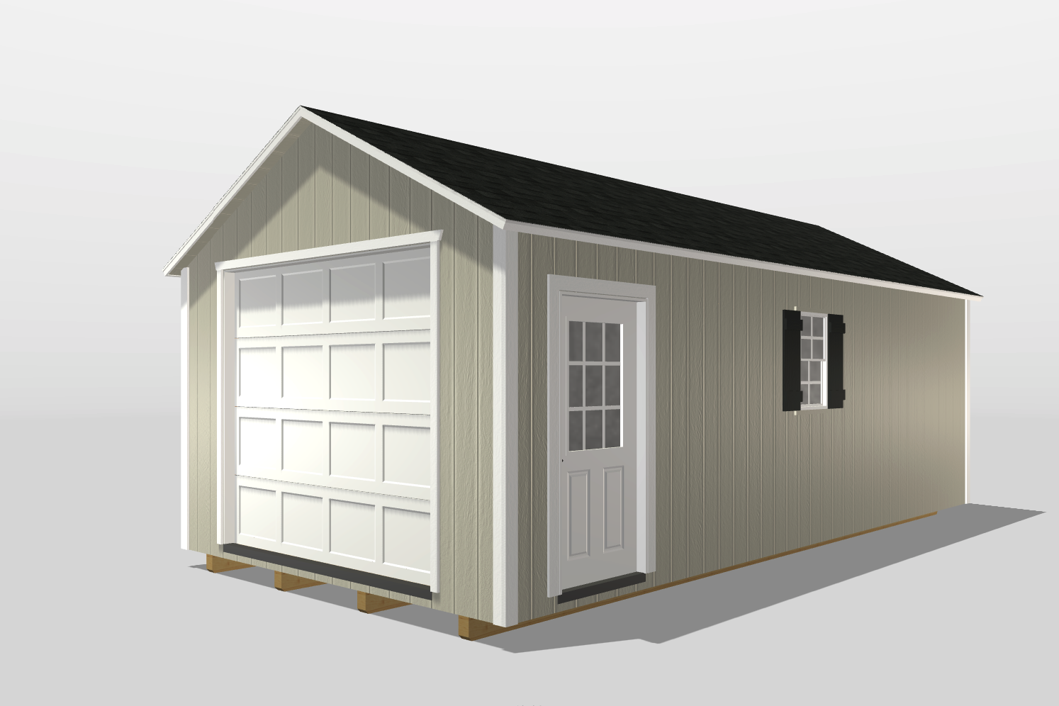 prefab single car garage statesboro georgia