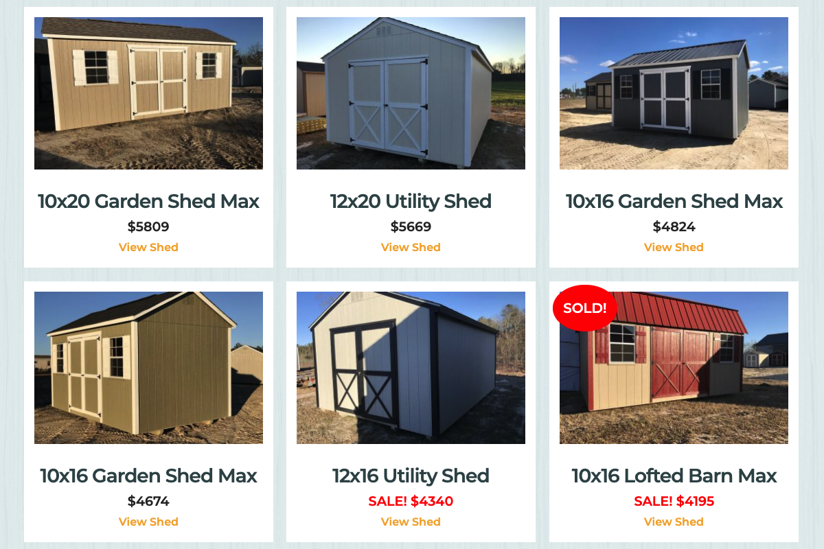 Storage sheds for sale in statesboro