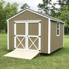 warner robins ga portable wood building utility shed 003