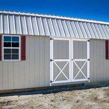 A custom storage shed with a loft in Georgia