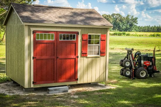 A rent to own shed delivery in Georgia