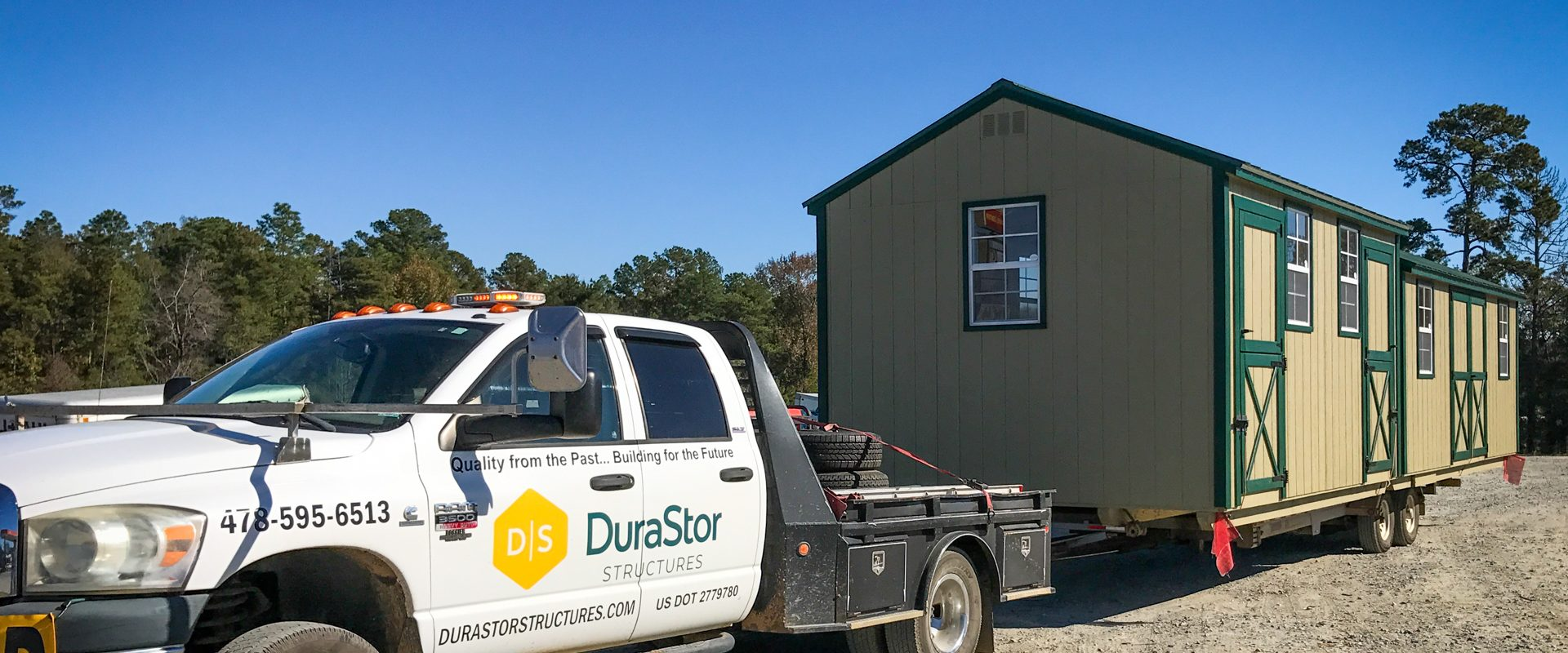 portable storage building delivery in georgia