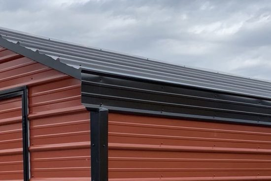 horizontal metal roof for backyard sheds
