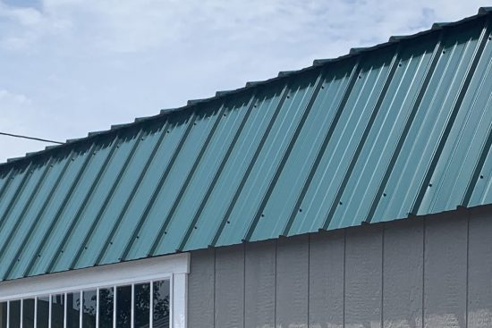 vertical metal roof for backyard sheds