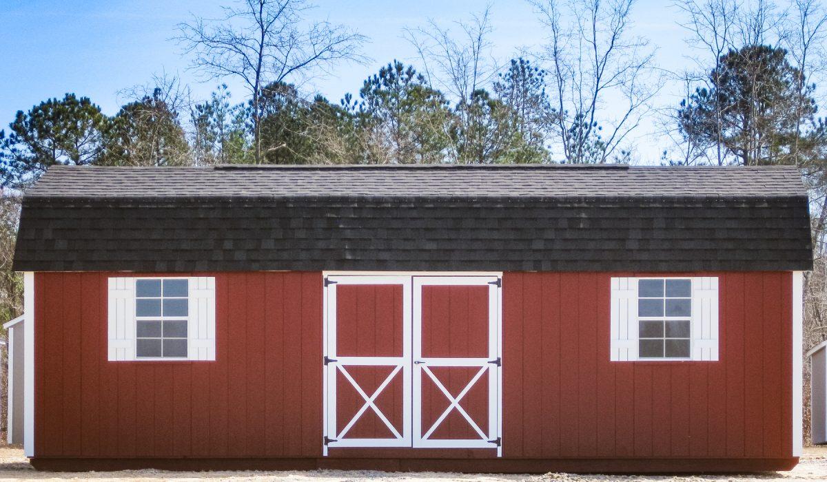 barn style backyard shed in georgia