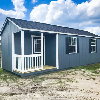 custom sheds with front porch