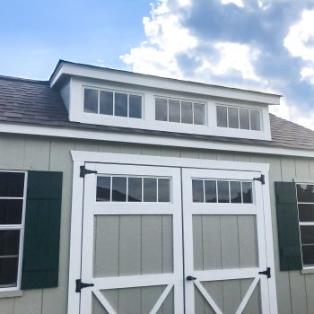 custom sheds with large dormer