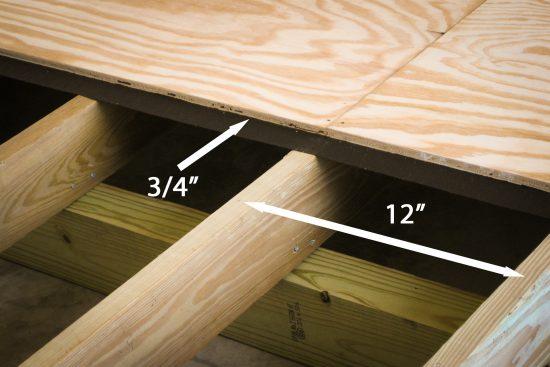 Car shed floor framing