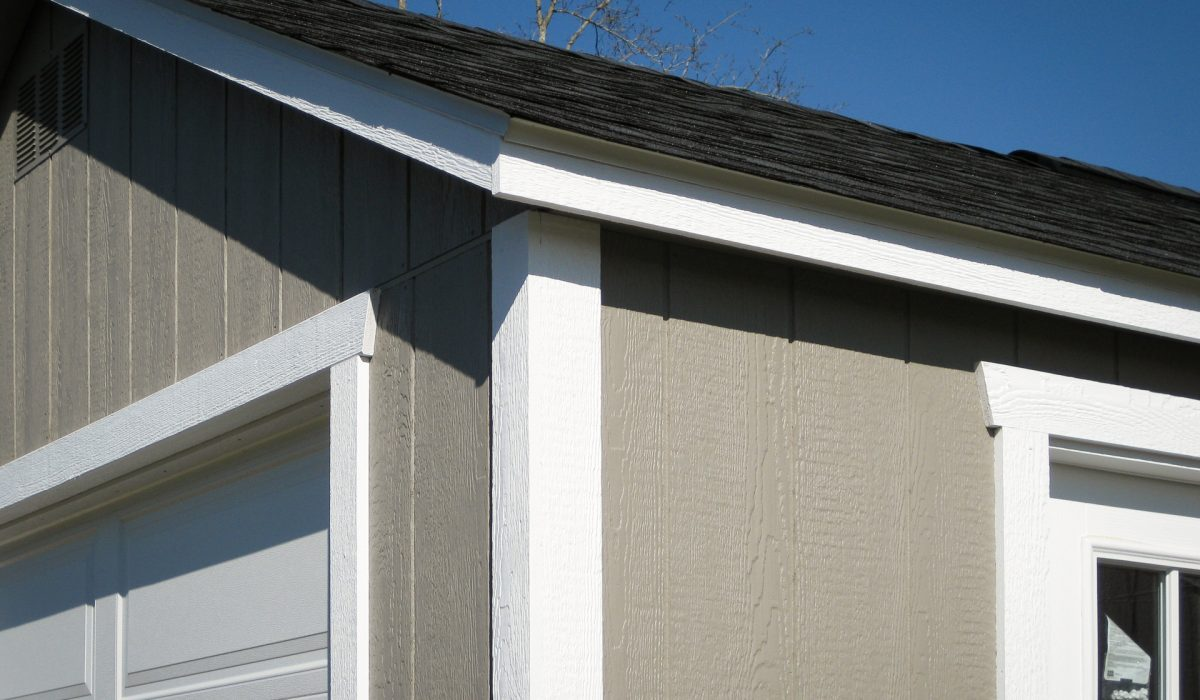 Close-up detail of car shed trim