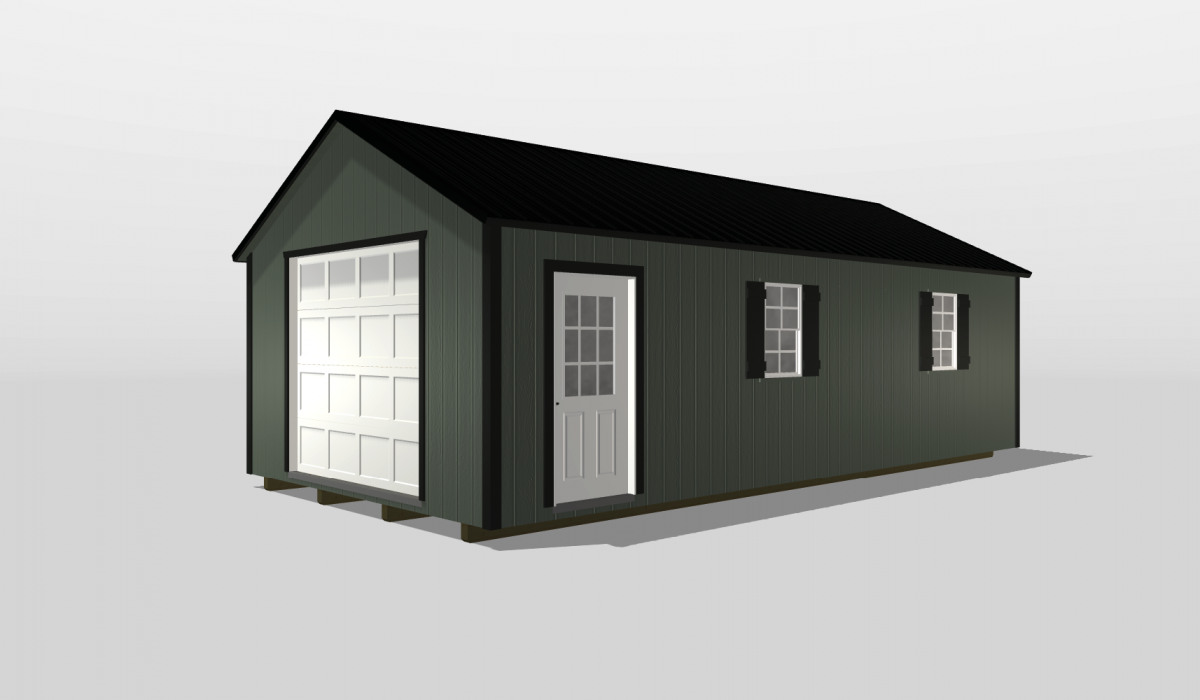 A 14x28 car shed design available in Georgia