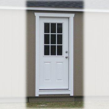 prefabricated garage shed 36 inch 9 lite door waynesboro ga