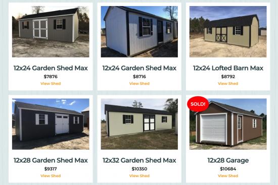 sheds for sale near augusta ga