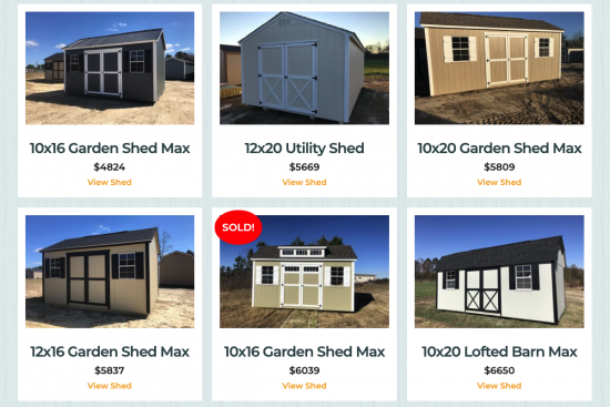 sheds for sale near macon ga