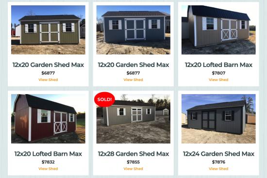 sheds for sale near warner robins ga