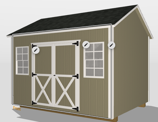 small storage shed exterior options