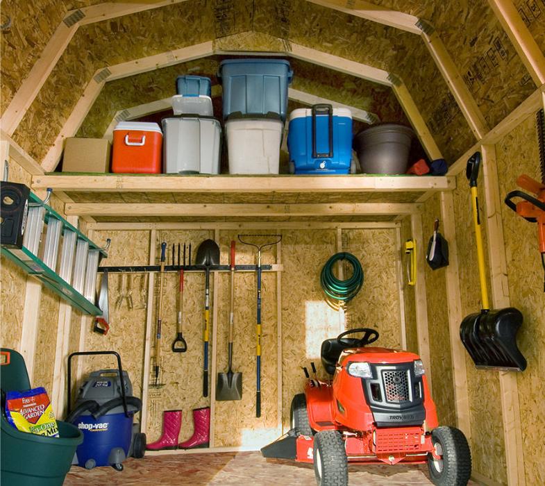 small storage shed organizing