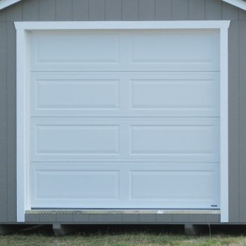 prefabricated sheds garage door metter ga