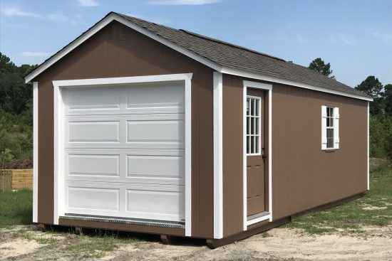 12x28 quaker tan white shed wrens ga