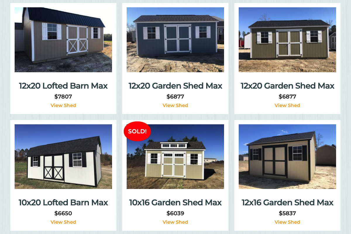 sheds for sale in georgia